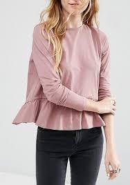 blouses for juniors pink hem ruffle open back sleeve blouse backless juniors