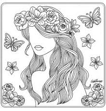 beauty coloring page zentangles colouring pinterest