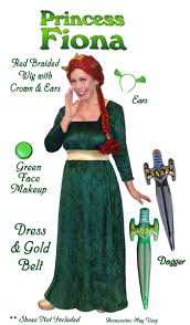 Halloween Costumes Accessories Sale Size Princess Fiona Costume Shrek Size