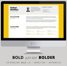 Bold Resume Template by Bold 2 Better Responsive Resume Cv Print Bonus By Qbkl