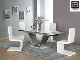 dining room rustic dining table modern table chairs set leather