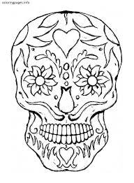 mexico coloring page mexican sugar skull coloring pages sugar skull coloring pages