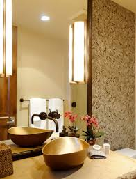bronze faucets for bathroom golden metal vessel sink installed in the bathroom with mounted