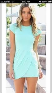 dress mint dress short sleeve dress sassy blue sky blue tight