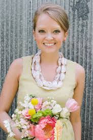 bridesmaid statement necklaces simple alabama wedding with colorful bridesmaid dresses southern