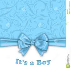 boy baby shower invitation card with blue bow stock vector image