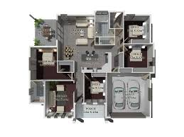 Garden Apartment Floor Plans Dream House Plans 3d Dream Home 3d Floor Plan Design France By