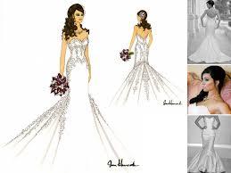 personalized wedding dress sketch drawing wonderful shower
