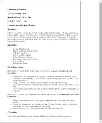 Resume Templates For Government Jobs Professional Oracle Apps Functional Consultant Templates To
