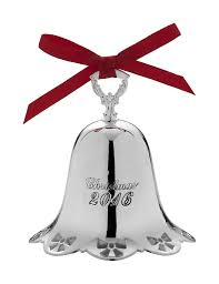 towle 2016 silver plate pierced bell ornament 37th