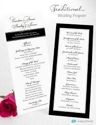 easy wedding programs traditional wedding program 7 best wedding program images on