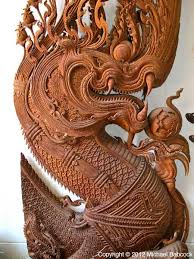 wood carvings ban roi an phan yang wood carving museum in chiang mai thai food