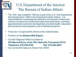 United States Department Of Interior Bureau Of Indian Affairs The Indian Child Welfare Act Florida Practice And Policy With With