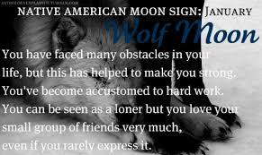 moon sign january wolf moon january