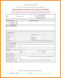 Computer Security Incident Report Template by 9 Security Incident Report Form Simple Cv Formate