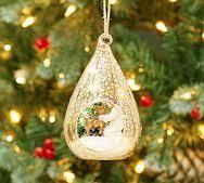 clear glass teardrop ornaments pottery barn