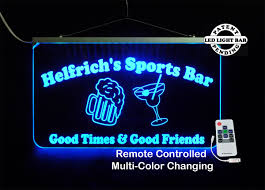 Man Cave Led Lighting by Personalized Sports Bar Sign Man Cave Signage Home Bar