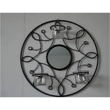 Mirror With Candle Sconces Round Metal Candle Holder With Mirror Xi U0027an Idwell Co Ltd
