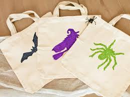 halloween kids u0027 craft glittered trick or treat bags hgtv