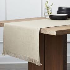 Where To Buy Table Linens - table runners linen cotton and polyester crate and barrel