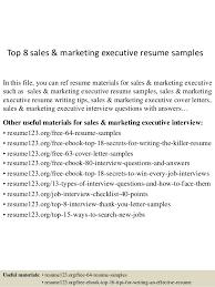 marketing executive resume top 8 sales marketing executive resume sles 1 638 jpg cb 1432129658