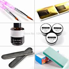 new acrylic liquid with nail gel nail primer brush clipper tool