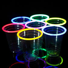 glow in the cups glow stick party cups pack of 12 assorted colors