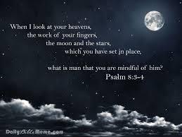 Daily Bible Meme - psalm 8 3 4 daily bible meme
