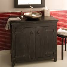Rustic Bathroom Cabinets Vanities - americana rustic bathroom vanity bases anvil finish native trails