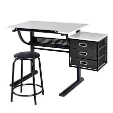 Drafting Table Vinyl Amazon Com Tangkula Drafting Table Art U0026 Craft Drawing Desk Art