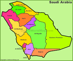Map Of Al Administrative Divisions Map Of Saudi Arabian