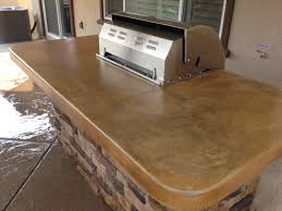 acid stained concrete countertops with mat finish sealer outdoor