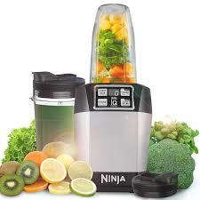 Ninja Mega Kitchen System Amazon Com Ninja Auto Iq Nutrininja 1000w Plantinum Blender