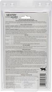 sentry fiproguard flea u0026 tick squeeze on for cats 6 treatments