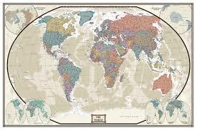 Cork World Map by Swiftmaps World Modern Day Antique Wall Map Mural 76x120