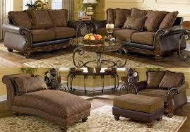 ashley leather sofa set chocolate brown living room sets new ashley old world fair north