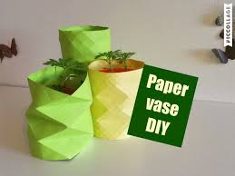 how to make paper vase diy craft vase decoration ideas
