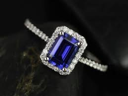 sapphire emerald cut engagement rings fashion jewelry sapphire and rings lisette 14kt white gold