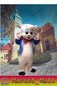 Halloween Costume Animal by Mall146 Custom Porky Pig Mascot Cartoon Costume Fancy Anime