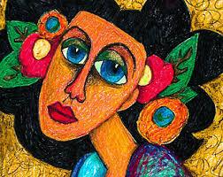 Items Similar To Art Print - items similar to spanish lady print mexican folk art woman art