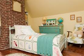 Shabby Chic Twin Bed by Refinished Kids Dresser Bedroom Contemporary With Roman Shade