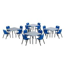 Children S Chair And Table Lifetime 20 Piece Blue And White Children U0027s Tables And Chairs Set