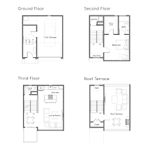 Sq Footage by Floor Plans Unit 3 Staccato 7