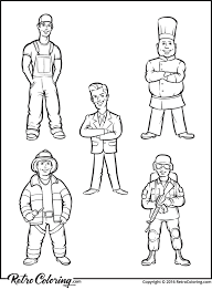 professional people coloring page retrocoloring