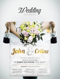 wedding flyer wedding flyer template on behance