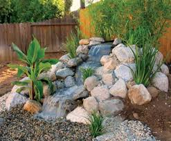 pondless waterfall with river rocks popular and less maintenance