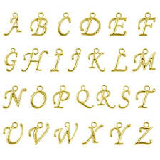 amazon com beadnova 13 14mm gold plated alphabet a z letter