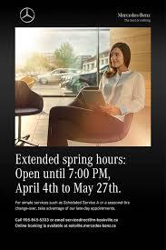 mercedes oakville service extended service hours take advantage mercedes