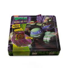 teenage mutant ninja turtles deluxe art carrying case