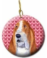 amazing deal on basset hound ornament